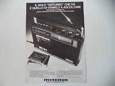 advertising Pubblicità 1973 RADIO REGISTRATORE MINERVA MC 7330