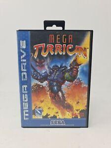 Very Rare Sega Megadrive Mega Turrican VGC Missing Manual Tested Working