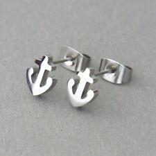 Anker Ohrstecker maritim silberne Edelstahl Ohrringe Ohrschmuck anchor earrings