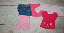 Osh Kosh Carters 18 24 m 2T pink floral top shorts capri pants girls LOT RS303