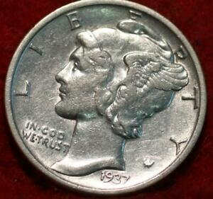 1937-S San Francisco Mint Silver  Mercury Dime