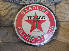 TEXACO GASOLINE FILLING STATION EMBOSSED METAL SIGN