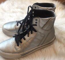 Silver  supra shoes 4.5  Big kids Hip Hop Dance
