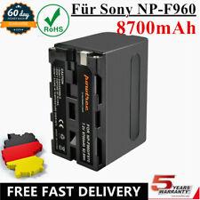 1× 8700mAh NP-F960 NPF960 Akku Batterie Für Sony NP-F970 NP-F950 NP-F770 NP-F750