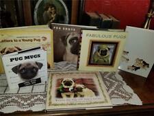 Lot 6 Collectible Pug Dog Hc Books Photo Mugs Shots Letters Knapp Levine Holiday