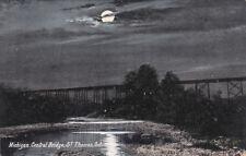 ST. THOMAS, Ontario, Canada, 1900-1910´s; Michigan Central Bridge at night