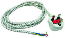 UNIVERSAL 2.5 METRE IRON POWER LEAD CABLE FLEX CORD & UK 3 PIN PLUG