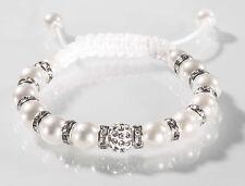 Brautschmuck Perlen Armband Kristallen Perlenarmband Perle Strass Kristall Braut