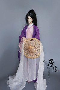 Dollmore 1/3SD&Uncle BJD Archaic Warrior Bamboo Color Hat+Long White/Black Yarn