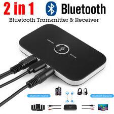 2in1 Wireless Bluetooth Empfänger Sender Adapter Musik AUX Audio Receiver 3,5mm