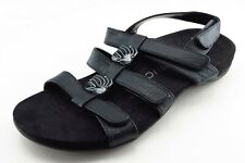 Vionic Size 8 M Black Gladiator Synthetic Women Sandal Shoes