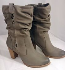 SIZE 9.5 UGG Australia DAYTON Women's Boots Heel Shoes NEW 1010192 NIB GRAY GREY