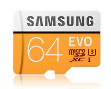 Samsung EVO 64GB 64G micro SD micro SDXC Flash Memory Card 100MBs UHD 4K Class10