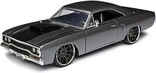 Jada Toys 1/24 Fast & Furious Doms Plymouth Road Runner grey metal model car