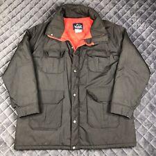 Woolrich Mens Size 2XL Jacket Parka Coat Black Insulated 33334 Vintage