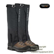 Black Crystal Hiking Gaiters Waterproof Breathable Nylon Men's Size Medium