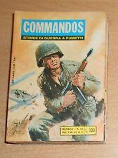 ED.BIANCONI  SERIE  COMMANDOS   LOTTO  8  NUMERI  1971  ORIGINALE !!!!!