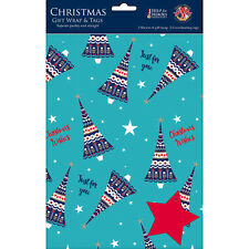 Help For Heroes Christmas Gift Wrap & Tags - Christmas Trees