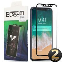 For iPhone X 7 8 6 Plus 3D Curved Full Coverage Tempered Glass Screen Protector