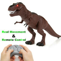 RC Elektro Tyrannosaurus Walking Dinosaurier Sound Kinder Spielzeug Dino Figur