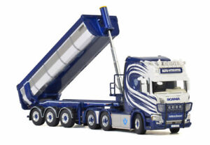 for SCANIA R HIGHLINE 6X4 HALFPIPE TIPPER TRAILER 01-2748 1/50 DIECAST MODEL