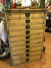 Antique Architect, Map Cabinet, 10 Drawer Unit