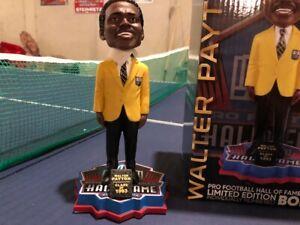 Walter Payton Chicago Bear NFL Hall of Fame Gold Jacket Bobblehead HOF NIB