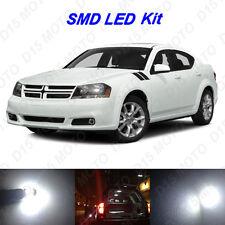 4 x White LED interior Bulbs + License Plate Lights for 2011-2014 Dodge Avenger
