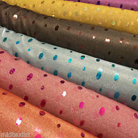 """Oval holographic contrasting sequins Knit Fancy dress fabric 58"""" M151 Mtex"""