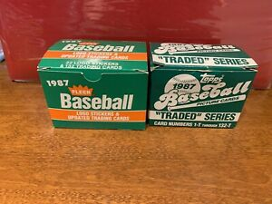 1987 Topps Traded Set Maddux RC & 1987 Fleer Updated McGuire Rookie *See Pics*