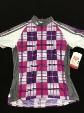 Women's Size Medium Sugoi Shortsleeve Check In Cycling Jersey