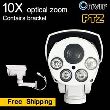 2MP 10X Optical Zoom PTZ IP Security Cameras 1080P H.265 IR POE TF (without POE)