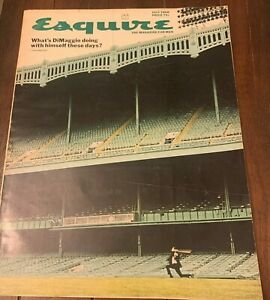 Vintage july 1966 Esquire Magazine with Joe DiMaggio / Yankees Stadium on Cover