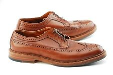 BOX/BAGS/TREES | ALDEN X JCREW 11D TAN LONGWING BLUCHER DRESS SHOES LWB 97641