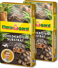 100L (2 x 50 L) Floragard Schildkrötensubstrat Sustrato Tortuga Terrario