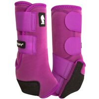 Classic Equine Legacy2 Horse Medicine SMB Sport Boots Plum Purple Front / Hind