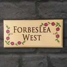 Personalised Flower Border Sign, Plaque Garden House Name Number Gift Nanny Home