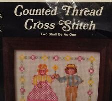 Wedding Cross Stitch Two Shall Become One Counted Customize Needlepoint