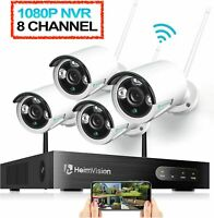 Heimvision HM241 Wireless Security Camera System, 8 Channel 1080p NVR 4pcs 960p