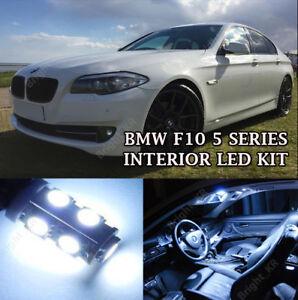 Fits BMW 5 SERIES F10 FULL PURE WHITE INTERIOR LED LIGHT BULBS ERROR FREE SET