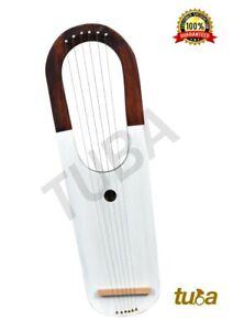 Lyre Harp Rose Wood 6 Metal Strings/Lyra Harp 6 Strings Free Case +Key