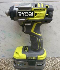 Ryobi 18v brushless three speed impact driver +4ah battery R18IDBL