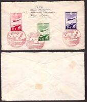 Japan, 1937 semi-postal set on cover          -AV43