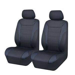 Universal Ultra Light Neoprene Front Seat Covers Size 30/35   Black/Black