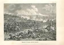 1813 Bataille des Nations près de Leipzig guerre de Napoléon Ier  GRAVURE 1883