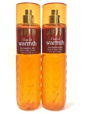 NEW 2 BATH & BODY WORKS CUP OF WARMTH WOMEN FRAGRANCE MIST BODY SPRAY 8 FL OZ