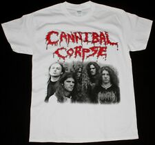 CANNIBAL CORPSE CLASSIC LINE UP DEATH METAL GRINDCORE NILE NEW WHITE T-SHIRT