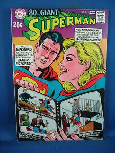 SUPERMAN 212 VF NM SUPERGIRL SUPERBABY ISSUE 1968