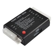 20/24 Pin PC ITX ATXX SATA Computer Power Supply Tester Black PF G3O9 F0C2