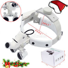 Dental 3.5X Dental Surgical Medical Headband Binocular Loupes LED Headlight